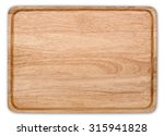 wooden plate isolate with...   Shutterstock . vector #315941828