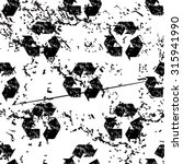 recycling sign pattern grunge ...