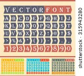 vector fonts in multiple colors | Shutterstock .eps vector #315943280