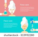 woman at beauty salon. hands... | Shutterstock .eps vector #315952280