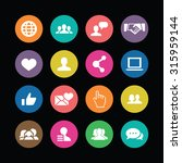 social media icons universal...   Shutterstock .eps vector #315959144