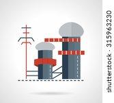biomass or multi fuel power... | Shutterstock .eps vector #315963230