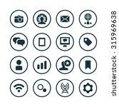 social media icons universal...   Shutterstock .eps vector #315969638