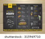 vintage chalk drawing fast food ... | Shutterstock .eps vector #315969710