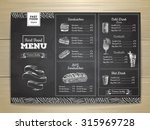 vintage chalk drawing fast food ... | Shutterstock .eps vector #315969728