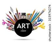 art class  eps10 vector | Shutterstock .eps vector #315976274
