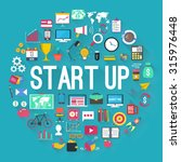 startup background and icon set.... | Shutterstock .eps vector #315976448
