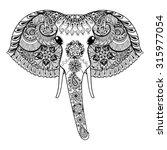 zentangle stylized indian... | Shutterstock . vector #315977054