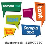 colorful speech bubbles  | Shutterstock .eps vector #315977330