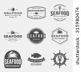 vector set of seafood... | Shutterstock .eps vector #315980474
