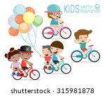 Kids Riding Bikes   Child...