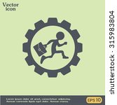 running businessman inside the... | Shutterstock .eps vector #315983804