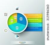 modern infographics pie chart... | Shutterstock .eps vector #315986360