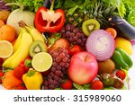 fresh fruits and vegetables | Shutterstock . vector #315989060