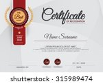 certificate of achievement... | Shutterstock .eps vector #315989474