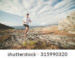 man practicing trail running in ... | Shutterstock . vector #315990320