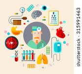 vector set of icons medical... | Shutterstock .eps vector #315991463