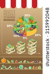 sale of vegetables infographic | Shutterstock .eps vector #315992048