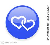 pictograph of two hearts | Shutterstock .eps vector #315992234
