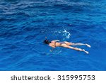 young woman in swimsuit... | Shutterstock . vector #315995753