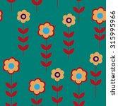 flower seamless pattern with a... | Shutterstock . vector #315995966