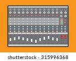 analog audio mixer  vector...