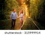 young couple having fun ... | Shutterstock . vector #315999914