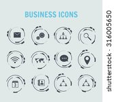 technological business icons... | Shutterstock .eps vector #316005650
