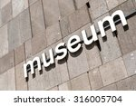museum sign | Shutterstock . vector #316005704