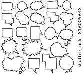 vector set of speech bubbles | Shutterstock .eps vector #316009643