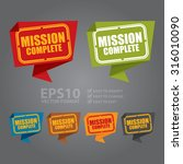vector   mission complete paper ... | Shutterstock .eps vector #316010090