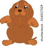cartoon doggy   Shutterstock .eps vector #316017329