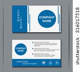 modern business visiting card ... | Shutterstock .eps vector #316017518