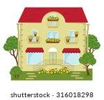 vector illustration of building ... | Shutterstock .eps vector #316018298