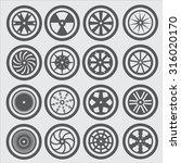 car wheel icons | Shutterstock .eps vector #316020170
