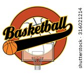 basketball with tail banner is... | Shutterstock .eps vector #316021214