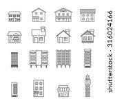 building icon.line vector | Shutterstock .eps vector #316024166