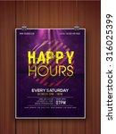 shiny glossy elegant happy... | Shutterstock .eps vector #316025399