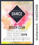 creative dance party... | Shutterstock .eps vector #316025408