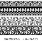 set of abstract pattern stripes. | Shutterstock .eps vector #316026524