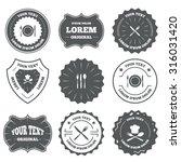 vintage emblems  labels. plate...