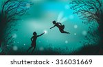 Deep Fairy Forest Silhouette A...