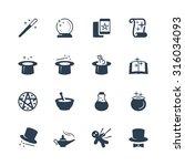 set of magic related vector... | Shutterstock .eps vector #316034093