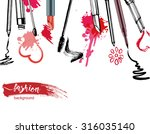 cosmetics  and fashion... | Shutterstock .eps vector #316035140