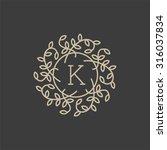 Floral Monogram Design Templat...