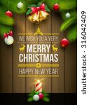 vector christmas objects and... | Shutterstock .eps vector #316042409