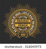 vintage logo template  hotel ... | Shutterstock .eps vector #316045973
