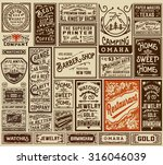 mega pack old advertisement... | Shutterstock .eps vector #316046039