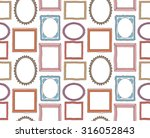 colorful vintage photo frame... | Shutterstock .eps vector #316052843