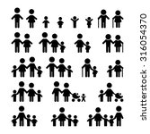 family icons set  | Shutterstock .eps vector #316054370